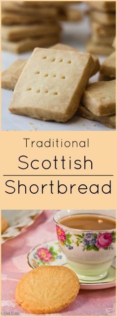 Classic shortbread cookies are one of the most delicious holiday cookie recipes to make. Buttery and soft, Scottish shortbread will melt in your mouth! Scottish Recipes, Irish Recipes, Sweet Recipes, British Food Recipes, Scottish Drinks, Scottish Desserts, Scottish Dishes, English Recipes, Spanish Recipes