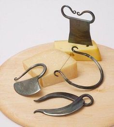 hand forged cheese set