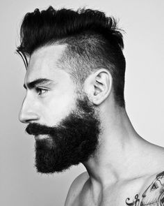 Hair + beard + tattoo