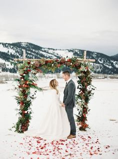 Wedding in Christmas time is so romantic!