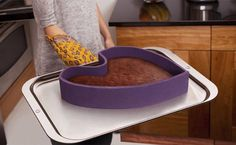 Ribbon Modular Baking Pan-Baking pan that forms any shape ~~ because the bottom has magnets that stick to any baking sheet.