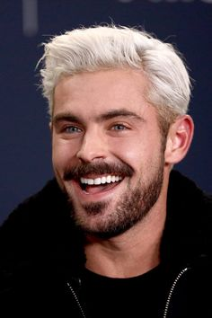 Zac Efron's Bleached Hair Finally Made a Public Debut, and We Almost Didn't . Zac Efron's Bleached Clairol Natural Instincts, Crew Cuts, Bleached Hair Guys, Bleach Blonde, Blonde Hair, Bleach Hair, Zac Efron Baywatch, The Hollywood Reporter, High School Musical