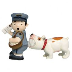 Mailman and Dog Salt and Pepper Shakers