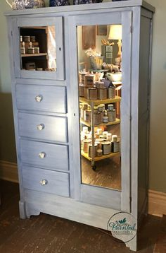 @apc2013 's Blue Jean with a strie glaze finish. www.painteddragonfly.blogspot.com
