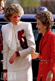 .Diana with Nancy Reagan during the Wales visit to Washington DC, November 1985