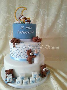 Torta battesimo con orsi bis | Croci e delizie di Oriana
