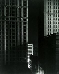 Sunday Night on Fortieth Street, New York, 1925 by Edward Steichen