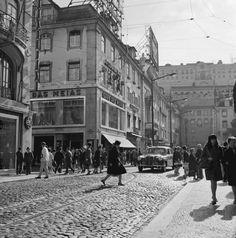 Rua da Betesga entre 1955 et 1970. Foto de Artur Pastor. AML PT/AMLSB/ART/000406