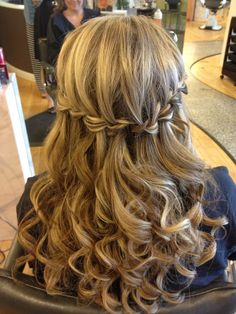 Confirmation Hairstyles On Pinterest Waterfall Braid