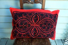 Vintage Hungarian Felt Cutwork Pillow Cover. $38.00, via Etsy.
