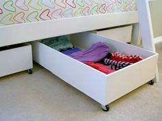 Underbed Storage Under Bed Storage Drawers Not Your Mom's Underbed Storage: 10 Creative Ways to Make… 10 Clever Toy Storage Dorm Storage, Diy Storage Boxes, Storage Hacks, Bedroom Storage, Extra Storage, Underbed Storage Ideas, Plywood Storage, Plywood Boxes, Cardboard Boxes