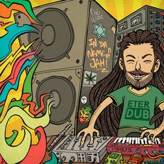 Eter Dub offers a new fresh breeze in dub music. His sound cannot be framed into one genre. It is definitely dub, but with references not only to his classical musical studies but also into jazz, which is his second nature. Cc Music, Rasta Art, Hip Hop Bands, Reggae, Musicals, Breeze, Jazz, Fresh, Nature