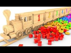 Learn Colors with THE WOODEN TRAIN Toys and Colorful Shapes for Kids #z | Learn Number for Children - YouTube