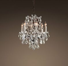 Ceiling | Restoration Hardware Small Rococo chandelier for Ava's room
