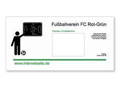 Schild für einen Fußballverein oder ein Vereinsheim