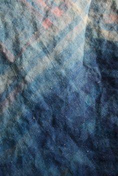 Dyed indigo linen.