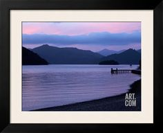 Dusk on Picton Harbour, Marlborough Sounds, South Island, New Zealand Photographic Print by David Wall at Art.com