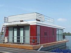 Floating Houses sind schwimmende Ferienhäuser, FLoating 44 sind festliegende Hausboote, in Kröslin, Barth, Laboe, Boltenhagen, Pruchten, Ueckermünde, Ribnitz-Damgarten, Krummin, Ostsee, Usedom, Fischland-Darss, Xanten, Niederrhein