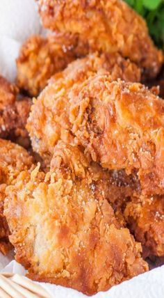 Learn how to make fried chicken from one of more than 20 of the best fried chicken recipes. We have buttermilk, garlic, southern fried chicken and more. Crispy Fried Chicken, Fried Chicken Wings, Fried Chicken Recipes, Baked Chicken, Pizza Ranch Fried Chicken Recipe, Roasted Chicken, Southern Buttermilk Fried Chicken, Fried Chicken Batter, Homemade Fried Chicken