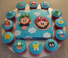 Super Mario / Sonic cake made for friends..