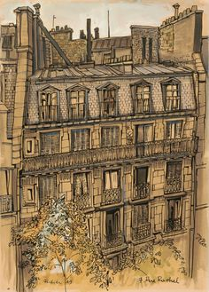 Franz Fedier  (Swiss, 1922-2005), The front of 7, rue Rachel, 1949