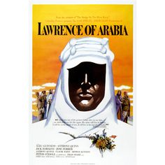 Reproduction Lawrence of Arabia film poster Old Movies, Classic Movie Posters, Classic Movies, See Movie, Film Movie, Epic Film, Epic Movie, Herbert Lom, Vintage Movies