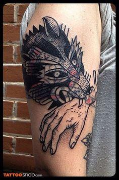 Blastover - Christian Lanouette at Tatouage Royal in Montreal, CAN Blast Over Tattoo, I Tattoo, Cool Tattoos, Blackout Tattoo, Animal Tattoos, Body Mods, Beautiful Tattoos, Tatting, Ink