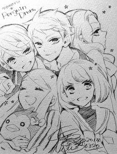 Anime Drawing hi-ra-ke-go-ma - Anime Drawings Sketches, Anime Sketch, Kawaii Drawings, Manga Drawing, Manga Art, Cute Drawings, Drawing Tips, Drawing Faces, Pencil Drawings