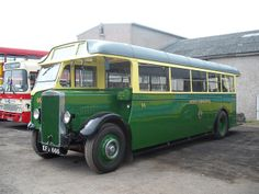 Preserved Exeter Corporation Cravens bodied Leyland Tiger TS8 66, EFJ 666 is pictured at a rally in Brough.