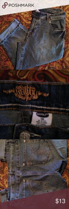 """Capris By Revolt Plus Size These capris are in GUC. No rips stains or tears. They measure 18"""" side to side at top of waist and inseam is 18"""". They have a lot of stretch  Pants Capris"""