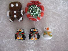 SALE  SALE  5 Christmas Glass Lampwork Beads by LGKJewelrySupplies, $28.00