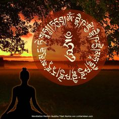 Wandtattoo Medizin Buddha Mantra für Heilung Liebe und Weisheit #lichterleben
