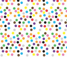 Coloured dots fabric by greennote on Spoonflower - custom fabric