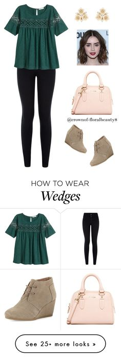 """""""Intern ootd inspiration"""" by crownof-floralbeauty19 on Polyvore featuring H&M, TOMS, Furla and Accessorize"""