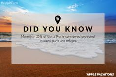Did you know this? click image to find a travel advisor near you Apple Facts, Trip Advisor, Travel Advisor, Apple Vacations, Adventure Awaits, Countries Of The World, Costa Rica, Did You Know, National Parks