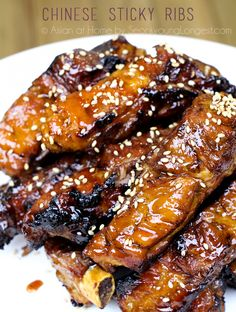 Chinese Style Sticky Ribs Recipe & Video