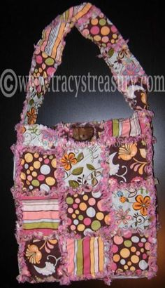 """DIY Tutorial for making a """"rag bag!"""" Cute and very doable!"""