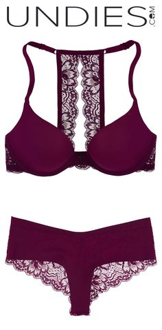 Could this be the most elegant/sexy lingerie set you've ever seen? The racerback style has been a major trend in the world of beautiful bras. Our lace back version feels divine and the front closure, which we love, makes it so easy to wear. This is your special set and this is your every day when its done our way. This is what fashion at the first layer looks like.