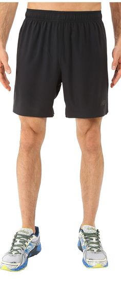 New Balance 7 Stretch Woven Short (Black) Men's Shorts - New Balance, 7 Stretch Woven Short, MS53053-001, Apparel Bottom Shorts, Shorts, Bottom, Apparel, Clothes Clothing, Gift, - Street Fashion And Style Ideas