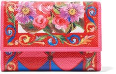 Dolce & Gabbana - Printed Textured-leather Wallet - Pink