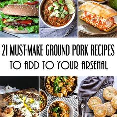 Who is up for some drool-worthy ground pork recipes? I browsed through dozens of food blogs and picked the ideas I loved the most.  You'll find everything from burgers to meatloafs, pies, various appetizers, and dinner ideas in this list of 21 must-make ground pork recipes! Check out the post on yummyaddiction.com 👈 #recipes #pork #foodporn #thekitchen #foodandwine #f52grams #eeeeeats #yahoofood #buzzfeast #buzzfeedfood #huffpostgram #huffposttaste #foodblogger #taste #foodforthought…