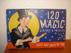 Vintage Game 120 Magic Tricks and Puzzles