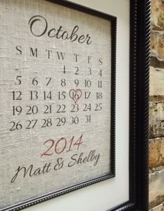 Traditional Wedding Gift 13 Years : Traditional 2nd Second Wedding Anniversary Gift: Customized Cotton ...