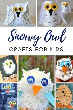 On Red Ted Art we have some CUTE Snowy Owl Crafts for Kids! Check out these fabulous owl crafts perfect for Winter Crafting or for Hedwig Harry Potter Fans! Winter Activities For Kids, Winter Crafts For Kids, Halloween Crafts For Kids, Winter Fun, Kids Fun, Owl Crafts, Snowman Crafts, Preschool Crafts, Decor Crafts