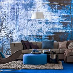 dazzling blue decoration