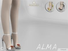 Alma Shoes for The Sims 4