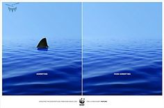 PRINT: WWF Campaign      Great spread with a clear, impactful message. Copy: Horrifying. More horrifying.