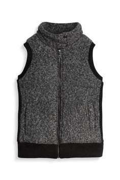 Love the marled look of this vest; would pair great with a jewel tone cowl neck sweater, skinnies and flats.