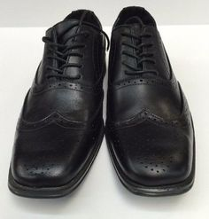 dbfb7aae2343 Bravo! Milano-1 Black Dress Shoes Men s Square Toe Leather Lining Size 10