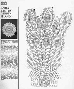 Home Decor Crochet Patterns Part 153 - Beautiful Crochet Patterns and Knitting Patterns Crochet Doily Diagram, Crochet Motifs, Filet Crochet, Knit Crochet, Doily Patterns, Knitting Patterns, Crochet Patterns, Pineapple Crochet, Pineapple Pattern